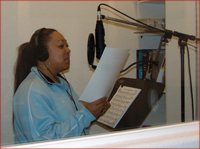 Voice Over in the Red Dog Records vocal Booth
